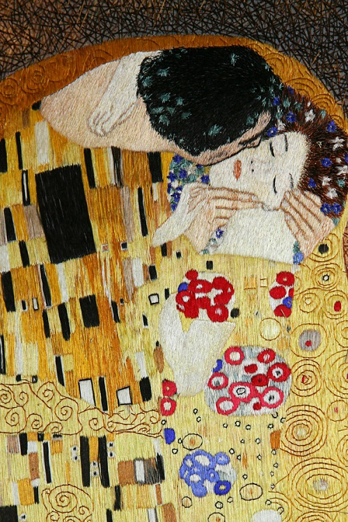 Classic paintings embroidery Klimt