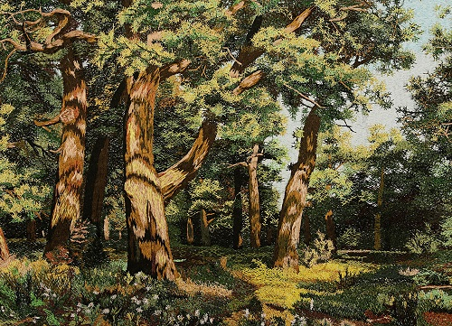 Oak Grove, Classic paintings embroidery