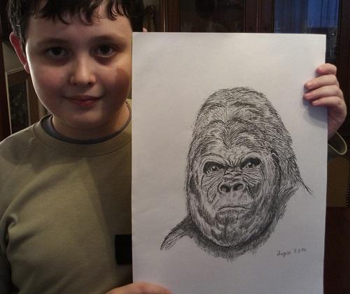 Child prodigy artist Dusan Krtolica
