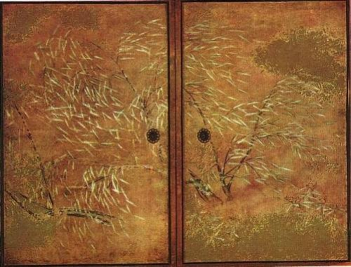 Autumn willow. Painting by Japanese artist Hasegawa Tohaku (1539-1610)