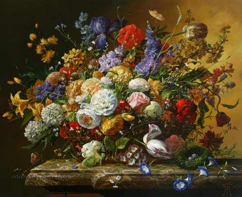 Basket of Abundance by Hungarian painter Gyula Siska