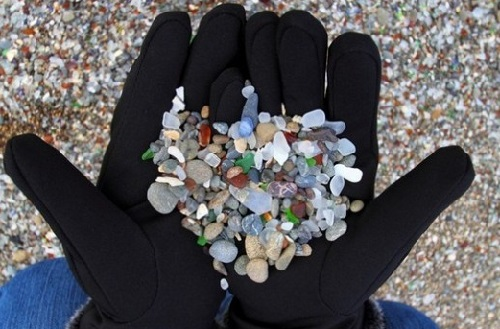 Beautiful Glass Beach in California