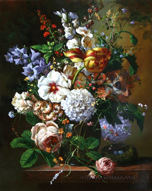 Floral Abundance by Hungarian painter Gyula Siska