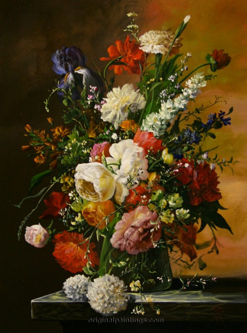 Floral Beauty by Hungarian artist Gyula Siska