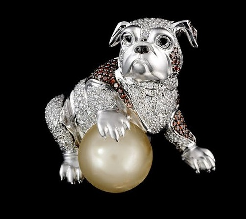 French bulldog. Russian jewelry house MASTER EXCLUSIVE, collection 'Animal world'