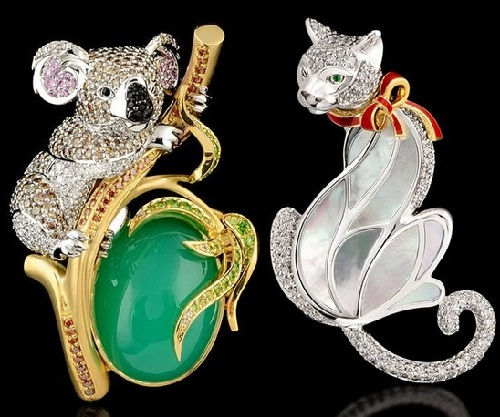 Russian jewelry house MASTER EXCLUSIVE, collection 'Animal world'