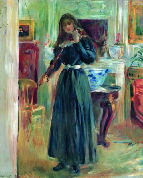 French impressionist painter Berthe Morisot