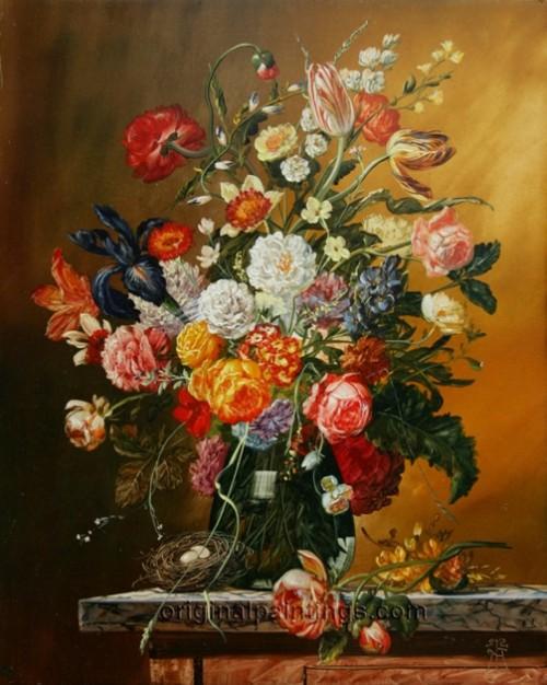 Floral Beauty by Hungarian artist Gyula Siska