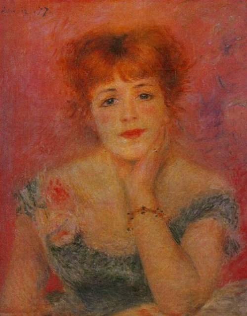 Artist Auguste Renoir (1841-1919) Portrait of Jeanne Samara. State Museum of Fine Arts named after Pushkin