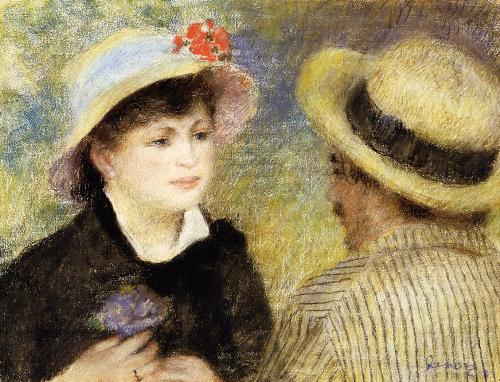 Boating Couple (Aline Charigot and Renoir). Ideal of beauty for Renoir