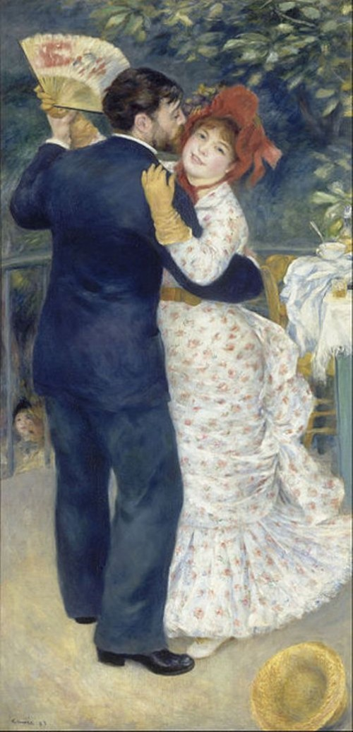 Dance in the Country (Aline Charigot and Paul Lhote), 1883, Ideal of beauty for Renoir