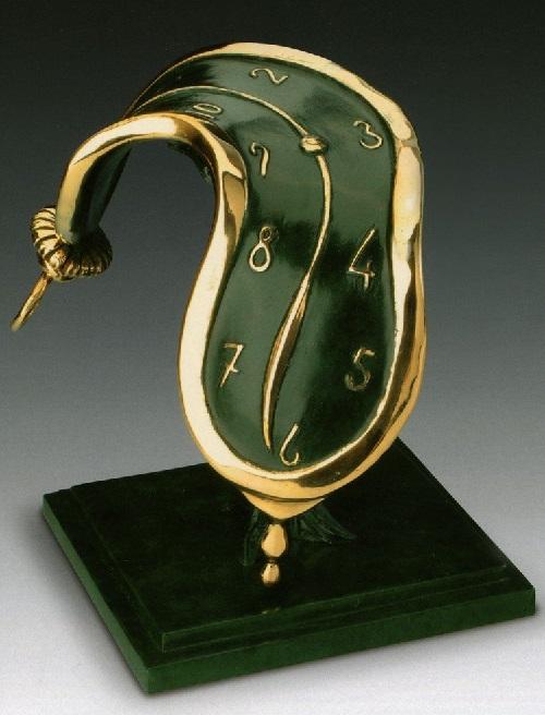 Dance of time II. Salvador Dali bronze sculpture