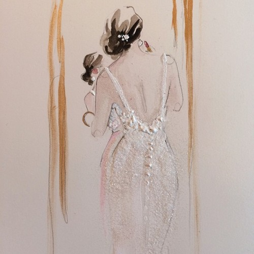Fashion illustration created for Madison James Bridal