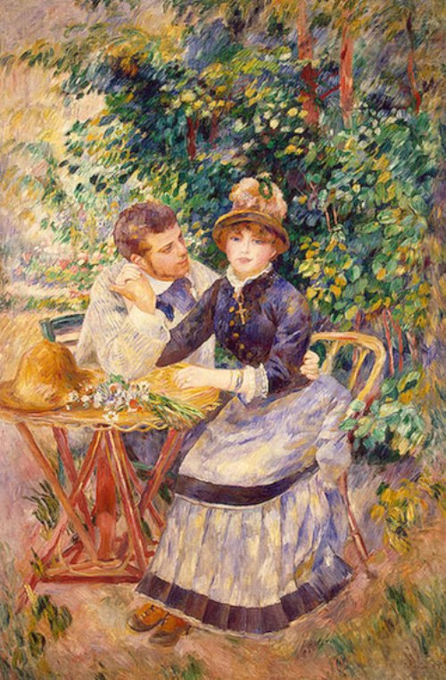 In the Garden, 1885, Ideal of beauty for Renoir