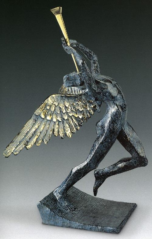 Jubilant Angel. Salvador Dali bronze sculpture