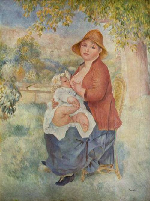 Mother and Child 1885. Ideal of beauty for Renoir