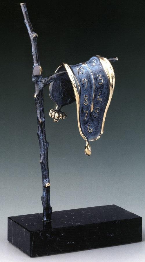 Persistence of Memory. Salvador Dali bronze sculpture