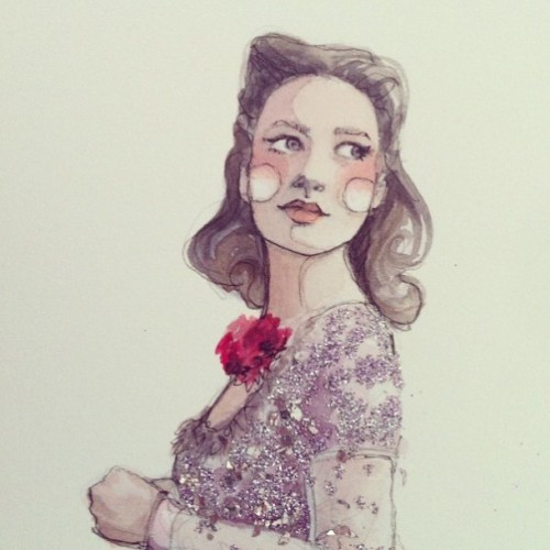 Shining fashion illustrations by Katie Rodgers