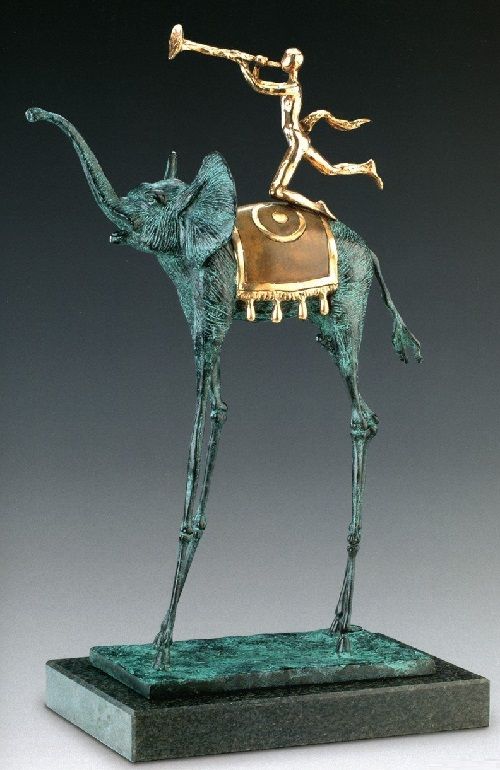 Triumph Elephant. Salvador Dali bronze sculpture