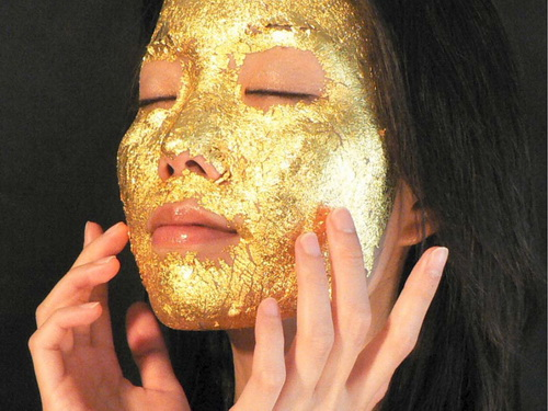 Most unusual gold products. Gold mask