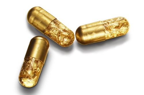 Most unusual gold products. Golden Pills by designer Tobias Wong