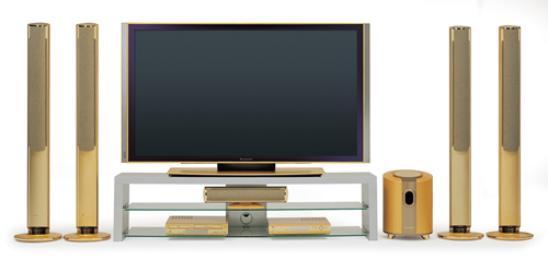Most unusual gold products. LG gold TV-set