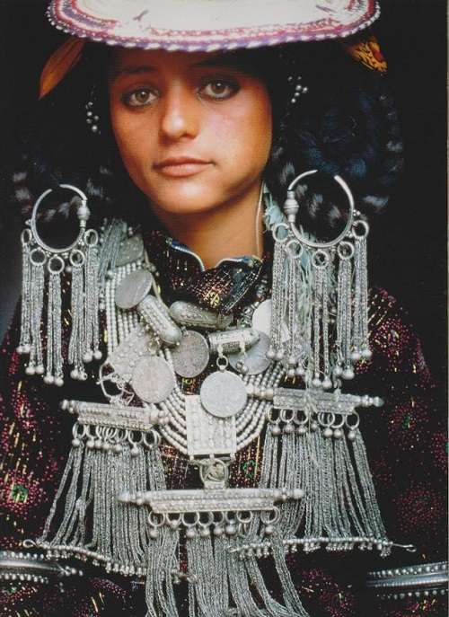 Silver jewellery of Yemeni bride