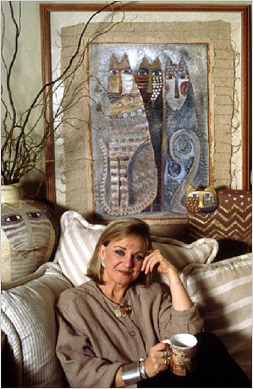 Beautiful jeweler and artist Laurel Burch
