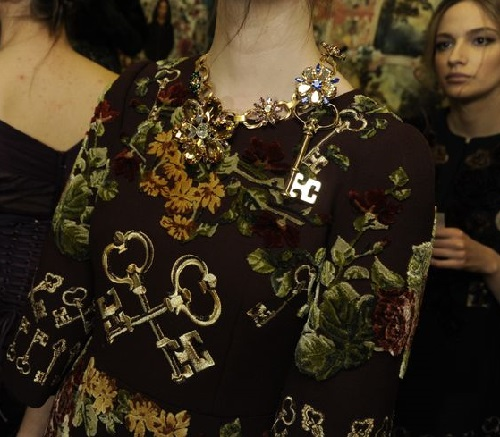Women's Collection Fall / Winter 2014-2015 from Dolce & Gabbana: Key themed ornaments