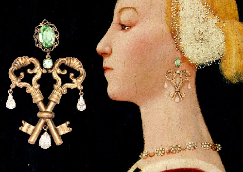 Portrait of a Woman, Paolo Uccello. Winter/Fall 2014-15 Jewelry collection Dolce&Gabbana keys opening hearts