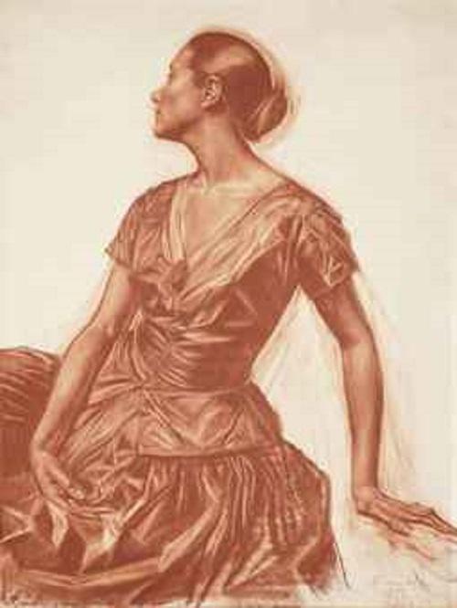 Silver Age last muse Salomea Andronikova. Alexandre Iacovleff (1887-1938) Portrait od Salomea Andronikova