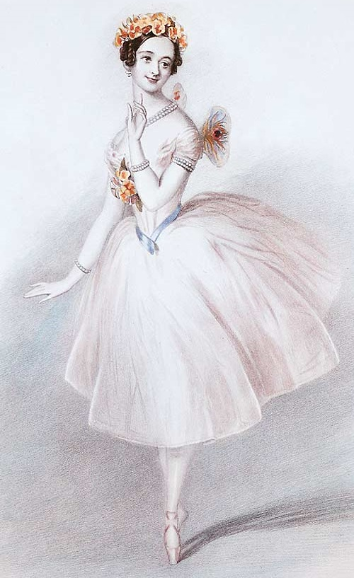 Marie Taglioni in the role of La Sylphide. 1832