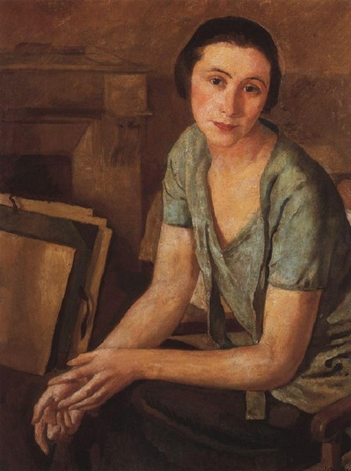 Silver Age last muse Salomea Andronikova. Portrait of Salomea Andronikova-Halpern by Zinaida Serebryakova, 1924