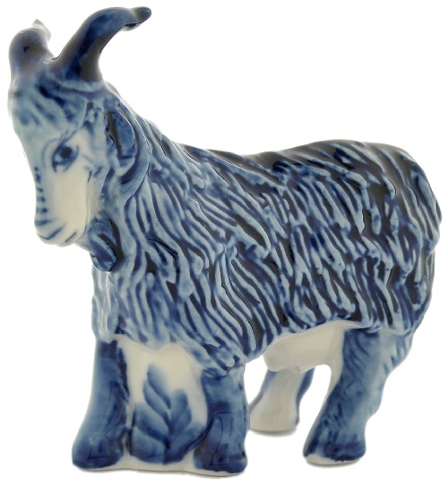 2015 Blue Wooden goat