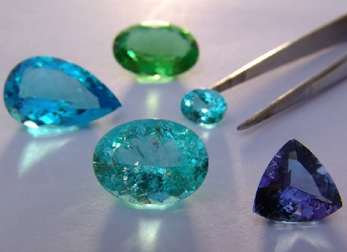Beautiful mineral Tourmaline. Paraiba tourmaline