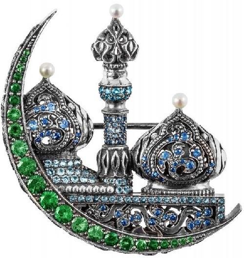 Reviving Russian tradition Axenoff Jewellery. Scheherazade brooch