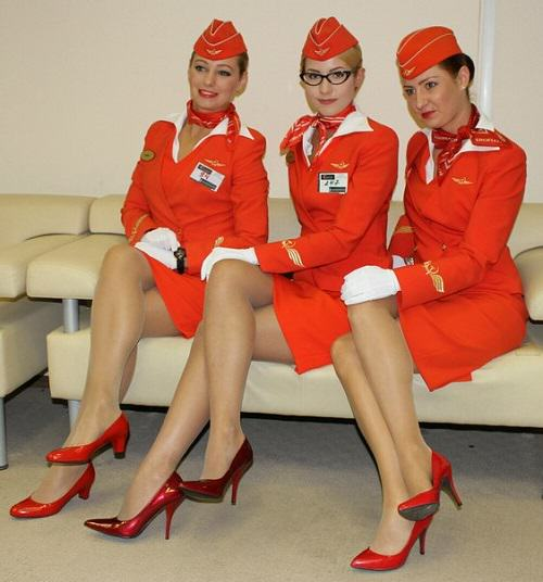 Most beautiful Russian stewardess 2015
