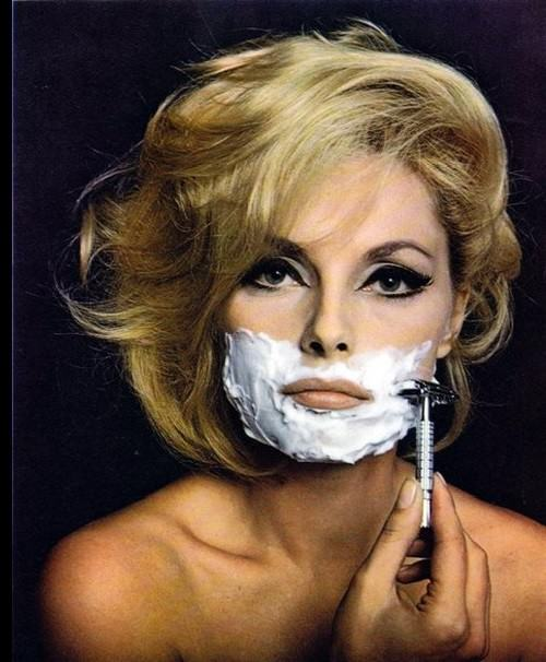 In 1965, the photo of shaving Virna Lisi in magazine 'Esquire' has flown around the whole world