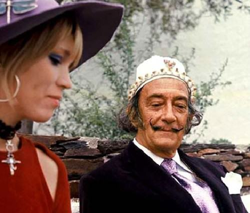 Angel of Salvador Dali Amanda Lear. Amanda Lear and Dali