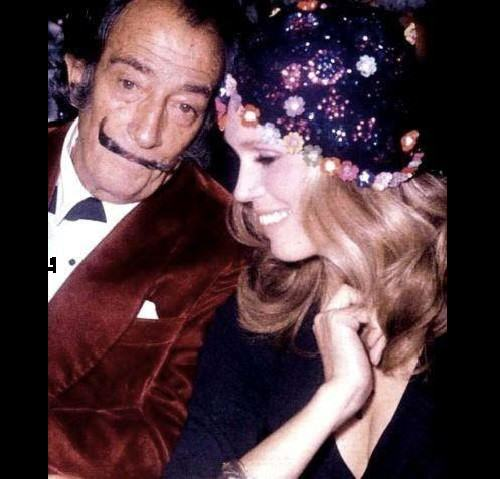 Angel of Salvador Dali Amanda Lear. Amanda and Dali