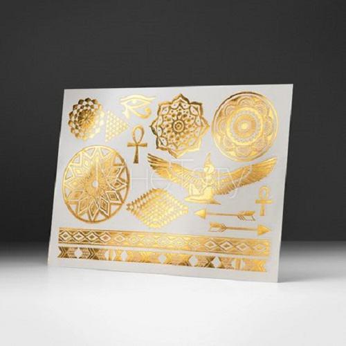 Gold foil temporary tattoos