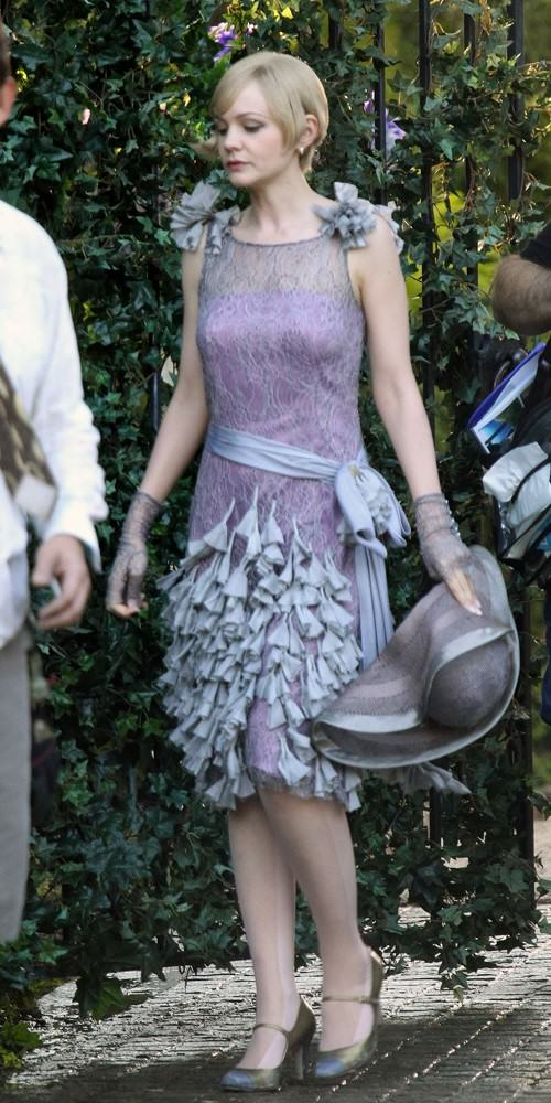 Carey Mulligan on the set of The Great Gatsby, 2013