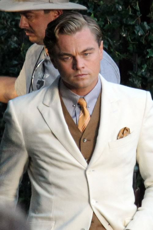 "Leonardo DiCaprio pictured on the set of ""The Great Gatsby"" filming in Sydney Centennial Park in Sydney, Australia"