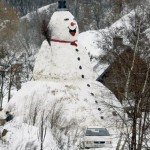 Evil snow man
