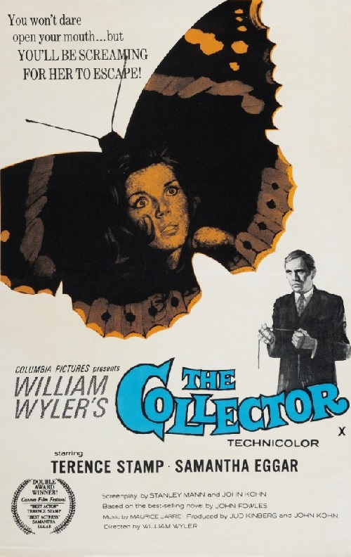Terence Stamp as Frederick Clegg in 1965 thriller The collector
