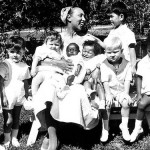 With adopted children, Josephine Baker