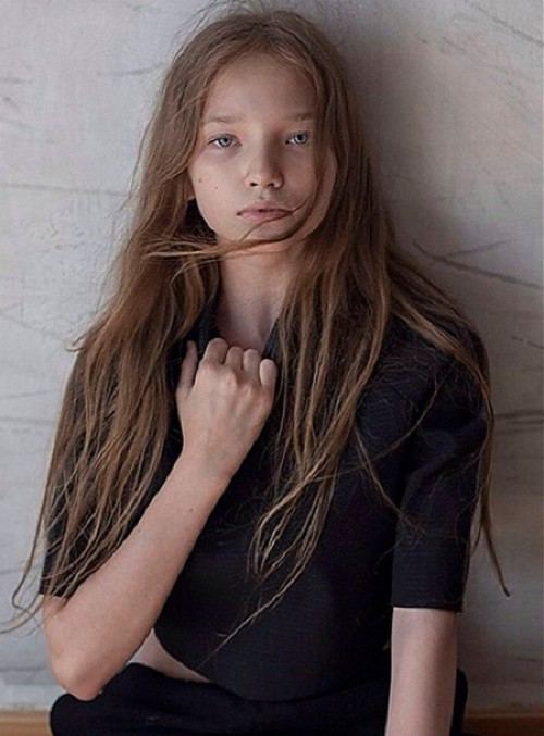 Future top model Milena Korobeynikova