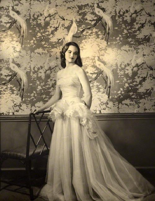 17-year-old Henrietta Tiarks Duchess of Bedford. 1957