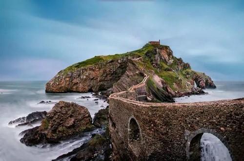 To the island of Gaztelugatxe in Spain