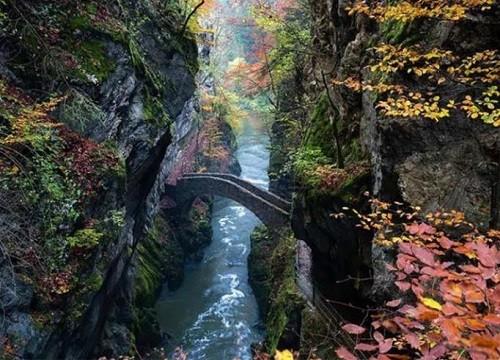 Gorge Bridge in Arese, Switzerland